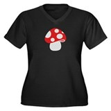 Toadstool fly agaric Women's Plus Size V-Neck Dark