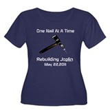 one nail at a time Women's Plus Size Scoop Neck Da