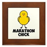 Marathon Chick Framed Tile