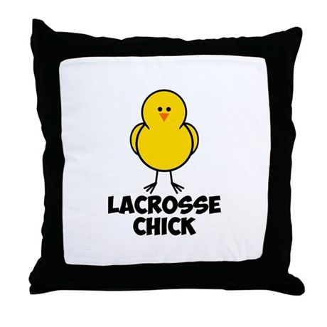 Lacrosse Chick Throw Pillow