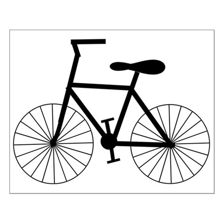 Cycling Design Small Poster