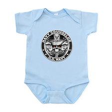 USN Navy Counselor Skull NC D Infant Bodysuit