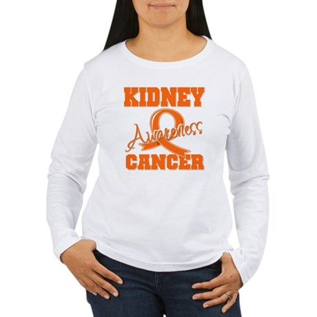 Kidney Cancer Awareness Women's Long Sleeve T-Shir