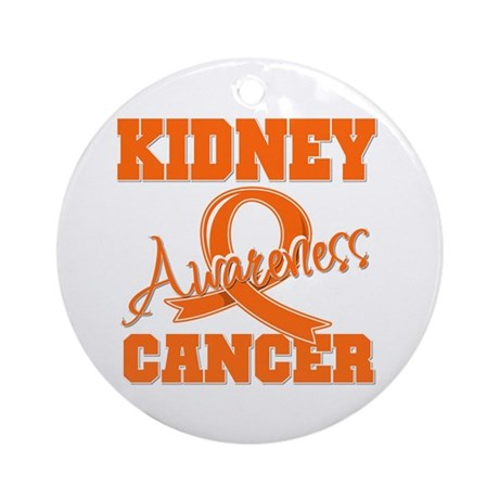Kidney Cancer Awareness Ornament (Round)