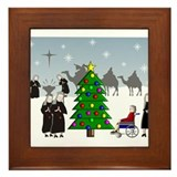 Catholic Nuns Christmas Framed Tile