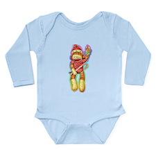 Christmas Sock Monkey Clothin Long Sleeve Infant B