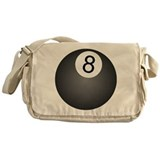 8 Ball Design Messenger Bag
