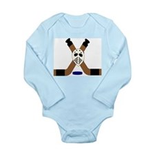 Ice Hockey Design Long Sleeve Infant Bodysuit