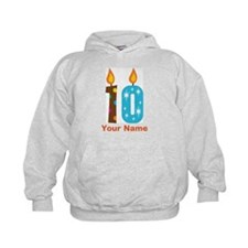 Custom 10th Birthday Candle Hoody