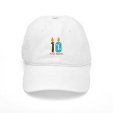 Custom 10th Birthday Candle Baseball Cap