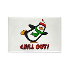 Chilly Willy Chill Out Rectangle Magnet