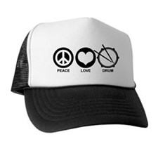 Peace Love Drum Trucker Hat