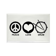 Peace Love Drum Rectangle Magnet