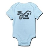 Trust Me I'm A Sax Player Infant Bodysuit