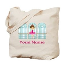 Customized Pink Ballerina Tote Bag