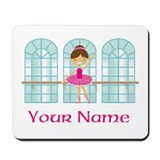 Customized Pink Ballerina Mousepad
