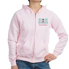 Customized Pink Ballerina Zip Hoodie