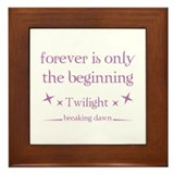 Forever is only the beginning Framed Tile