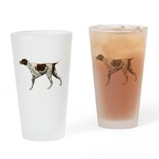 german shorthair pointing Drinking Glass