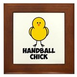 Handball Chick Framed Tile