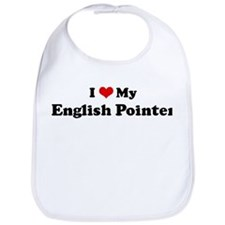 I Love English Pointer Bib