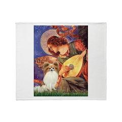 Mandolin Angel & Papillon Throw Blanket