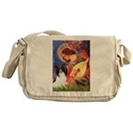Mandolin Angel & Papillon Messenger Bag