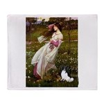 Windflowers & Papillon Throw Blanket
