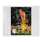 Fairies / Papillon (f) Throw Blanket