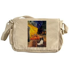 Cafe & Papillon Messenger Bag