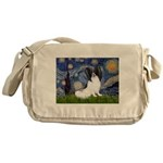 Starry Night Papillon Messenger Bag