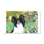 Irises & Papillon Car Magnet 20 x 12