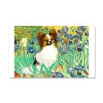 Irises / Papillon Car Magnet 20 x 12