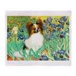 Irises / Papillon Throw Blanket