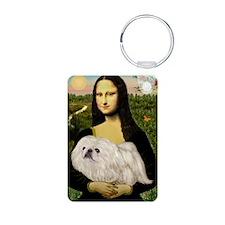 Mona /Pekingese (w) Aluminum Photo Keychain