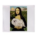 Mona /Pekingese (w) Throw Blanket