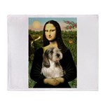 Mona Lisa / PBGV Throw Blanket