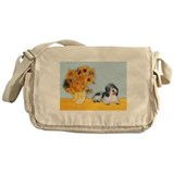 Sunflowers/PBGV Messenger Bag