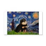 Starry Night / Pomeranian(b&t) Car Magnet 20 x 12