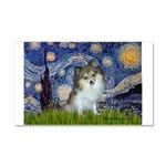 Starry Night /Pomeranian (p) Car Magnet 20 x 12