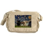 Starry/3 Pomeranians Messenger Bag