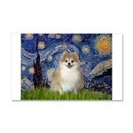 Starry / Pomeranian Car Magnet 20 x 12