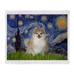 Starry / Pomeranian Throw Blanket