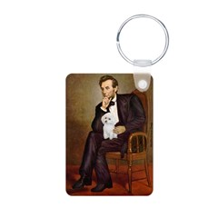 Lincoln/Poodle (W-Min) Aluminum Photo Keychain