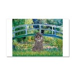 Bridge / Poodle (Silver) Car Magnet 20 x 12