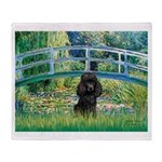 Bridge / Poodle (Black) Throw Blanket