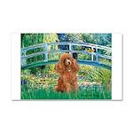 Lily Pond Bridge/Poodle (apri Car Magnet 20 x 12