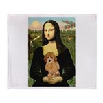 Mona / Poodle (a) Throw Blanket