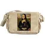 Mona / Poodle (bl) Messenger Bag