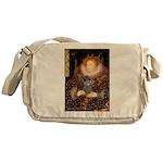 Elizabeth / Poodle (Silver) Messenger Bag